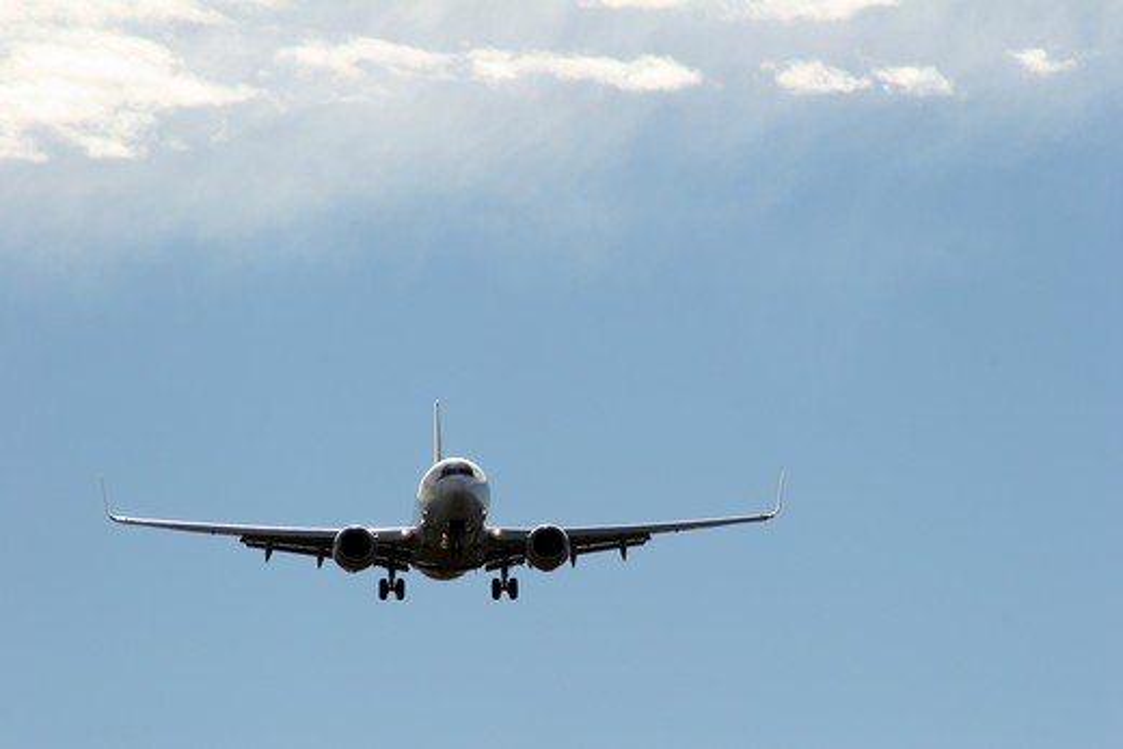 Stock Photo: 1807-383 Airplane in flight