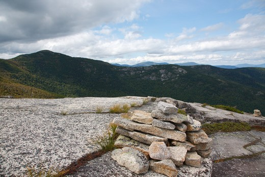Baldface Circle Trail during the summer months. Located in the White Mountains, New Hampshire USA. : Stock Photo