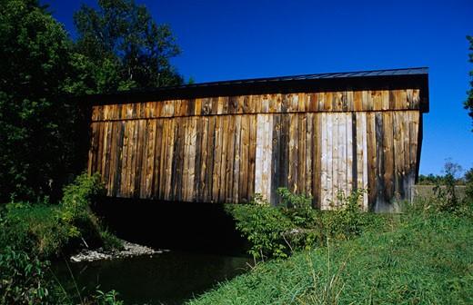 Stock Photo: 1809-1117 Kingsbury Covered Bridge