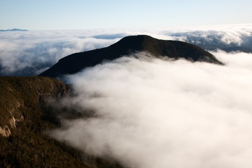 Undercast from the summit of Mount Osceola in the White Mountains, New Hampshire USA : Stock Photo