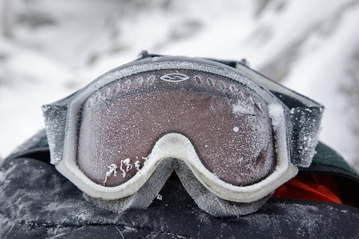Stock Photo: 1809-12039 Appalachian Trail - Extreme weather conditions on the summit of Mount Lafayette during the winter months in the White Mountains, New Hampshire USA