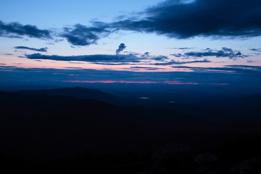 Stock Photo: 1809-13592 Sunset from the Jewell Trail. Located in the White Mountains, New Hampshire USA