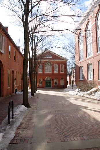 Stock Photo: 1809-14730 Old Town Hall in Salem, Massachusetts USA which is part of New England during the winter months