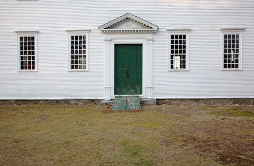 Stock Photo: 1809-15153 Sandown Meetinghouse located in Sandown, New Hampshire USA which is part of New England...This Meetinghouse is listed on the Register of Historic Places and is a excellent example of a 18th century New England chruch / Meetinghouse