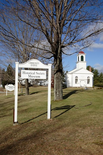 Stock Photo: 1809-15191 Centre Congregational Church during the autumn months. Located in Gilmanton,  New Hampshire USA.. Notes..This church is listed on the National Register of Historic Places