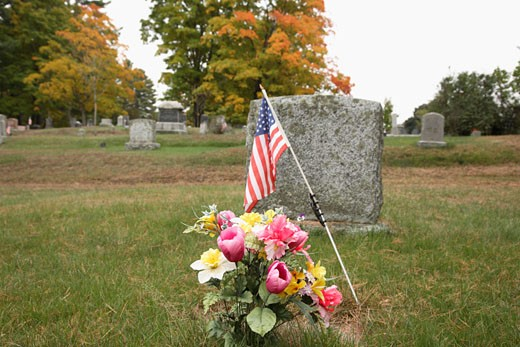 Old Pine Grove Cemetery  : Stock Photo