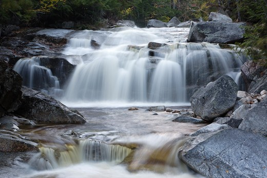 Swift River in the White Mountain National Forest of  New Hampshire USA during the autumn months : Stock Photo