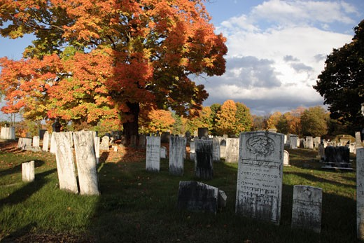 Chester Village Cemetery : Stock Photo