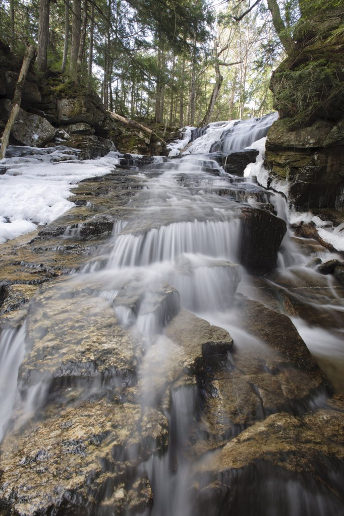 Stock Photo: 1809-17432 Snyder Brook Scenic Area - Tama Falls along Snyder Brook during the spring months in Randolph, New Hampshire USA