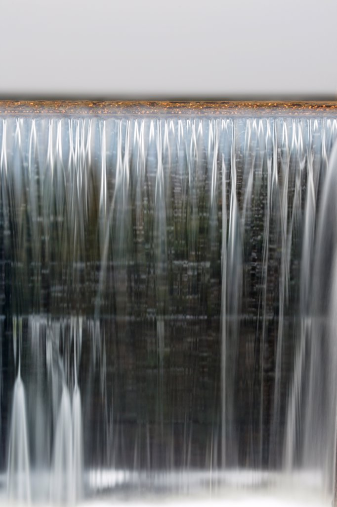 Dam at Airport Marsh near Mt Washington Regional Airport in Whitefield, New Hampshire USA during foggy conditions : Stock Photo