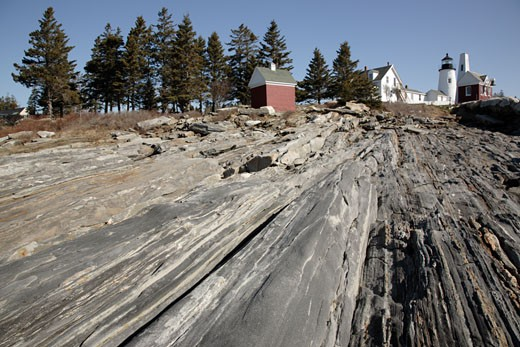 Pemaquid Point Light  - Pemaquid, Maine USA : Stock Photo