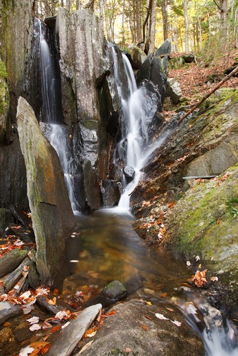 Tributary of the Cockermouth River during the autumn months in Groton, New Hampshire USA : Stock Photo