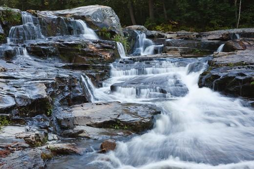 Jackson Falls along Wildcat Brook in Jackson, New Hampshire USA : Stock Photo
