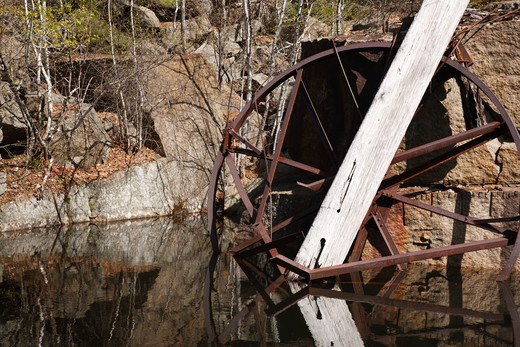 Stock Photo: 1809-8376 The abandoned Redstone Granite quarry  in Conway, New Hampshire USA