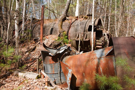 The abandoned Redstone Granite quarry  in Conway, New Hampshire USA : Stock Photo