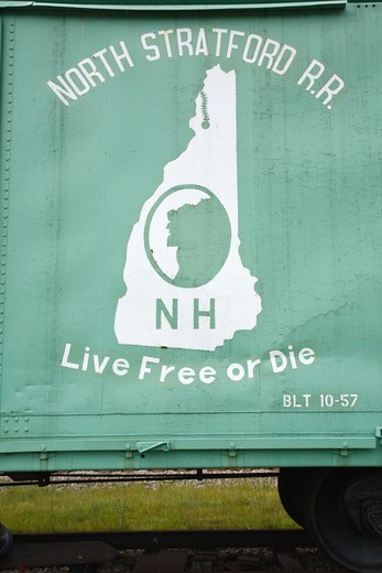 Stock Photo: 1809-9432 Grand Trunk Railroad Museum in Gorham, New Hampshire USA