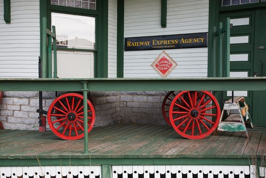 Stock Photo: 1809-9444 Grand Trunk Railroad Museum in Gorham, New Hampshire USA
