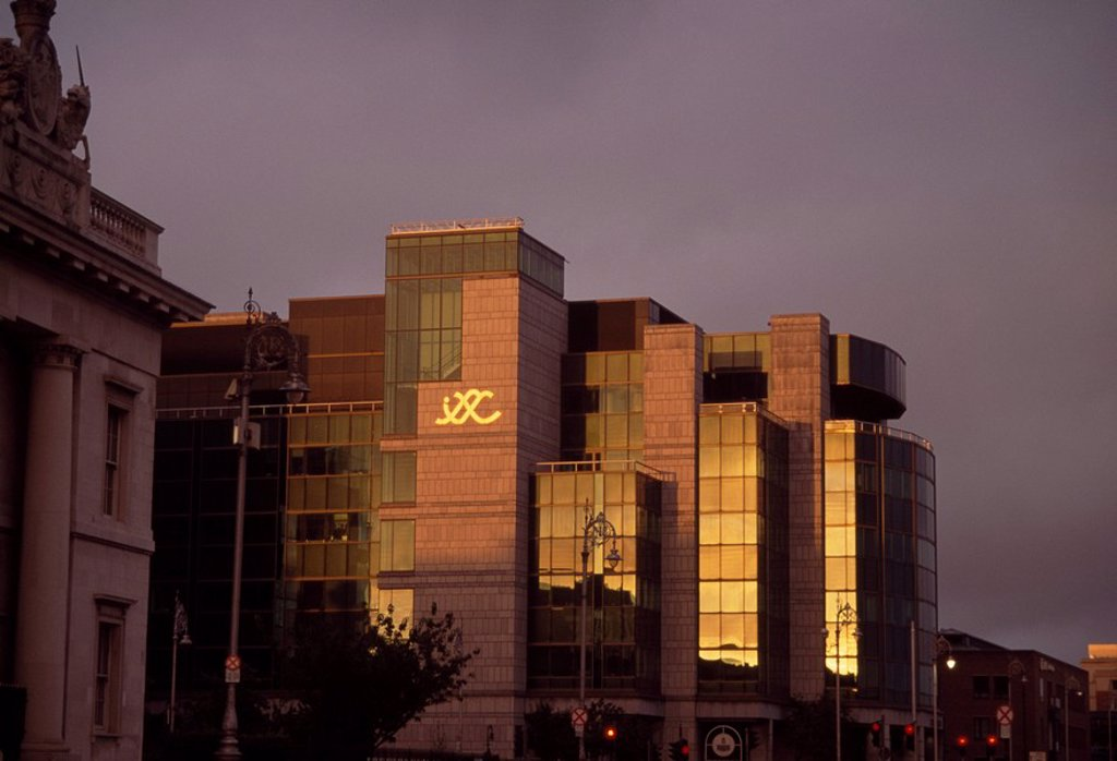 Stock Photo: 1812-10152 International Financial Services Centre, Dublin, Co Dublin, Ireland, Exterior view of an international finances centre
