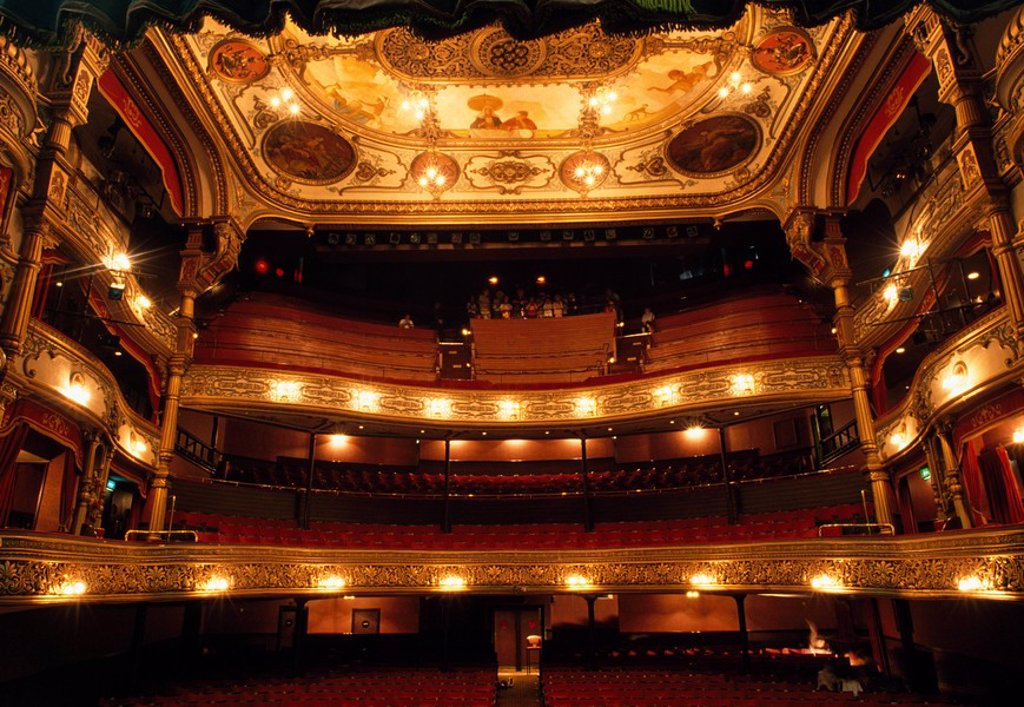 Stock Photo: 1812-10221 Grand Opera House, Belfast, Ireland, 19th Century opera house