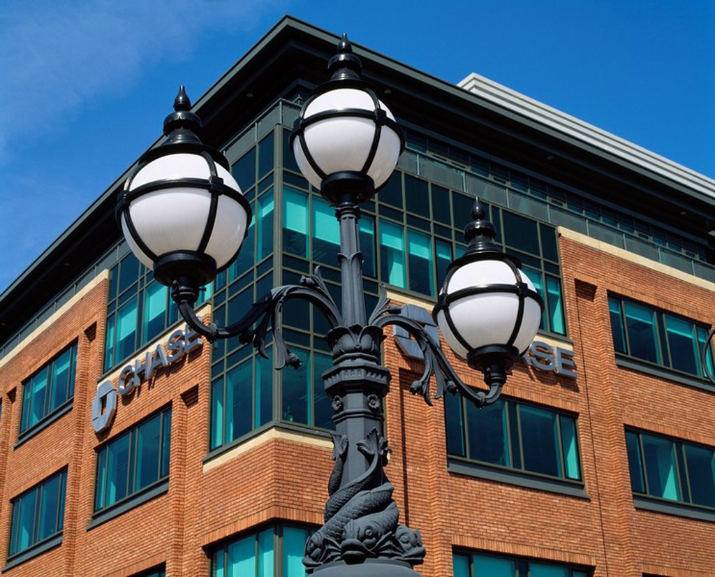 Stock Photo: 1812-10359 Dublin,Co Dublin,Ireland,Ornate streetlight in the International Financial Services Centre