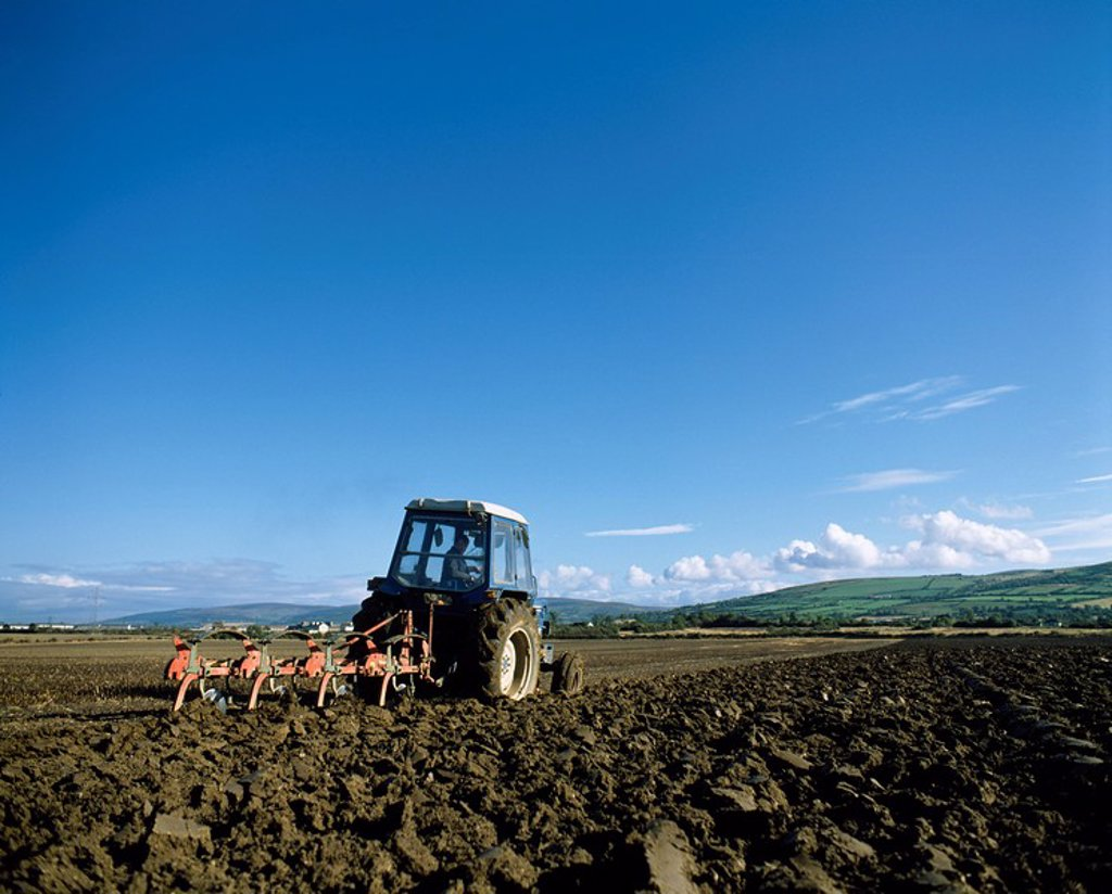 Stock Photo: 1812-10416 Ploughing, Newcastle, Co Dublin, Ireland