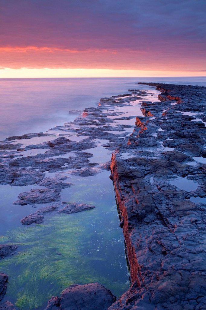 Killala Bay, Co Sligo, Ireland, Bay at sunset : Stock Photo