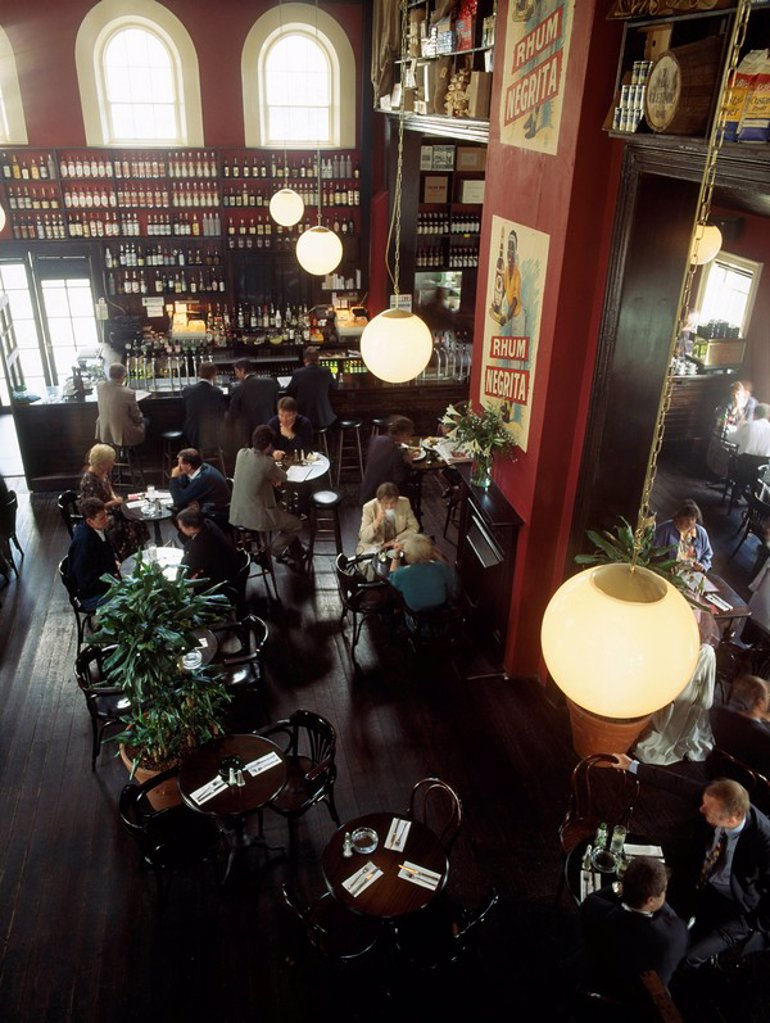 Stock Photo: 1812-10800 Dublin _ Pubs, Harbour Master Bar, Financial Services Centre