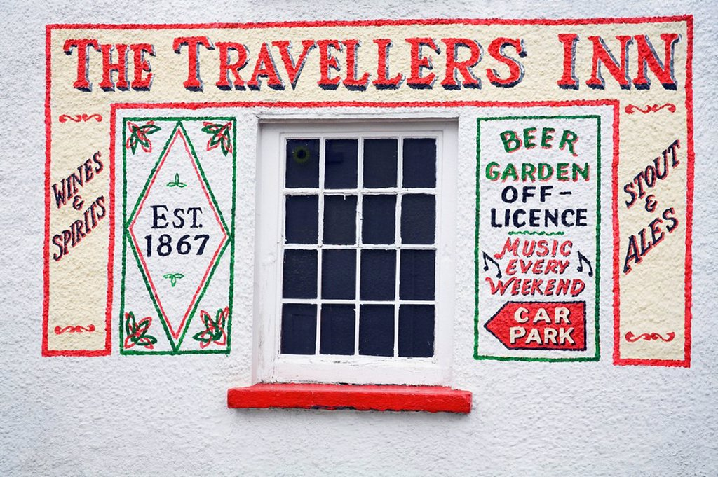Inn sign, Milford, County Donegal, Ireland : Stock Photo