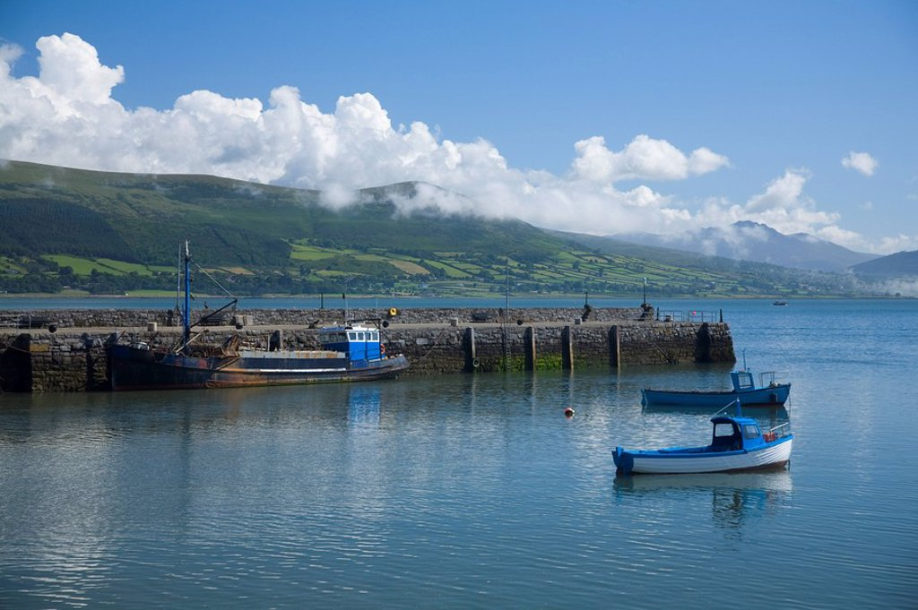 Stock Photo: 1812-11207 Boats in dock, Carlingford, County Louth, Ireland