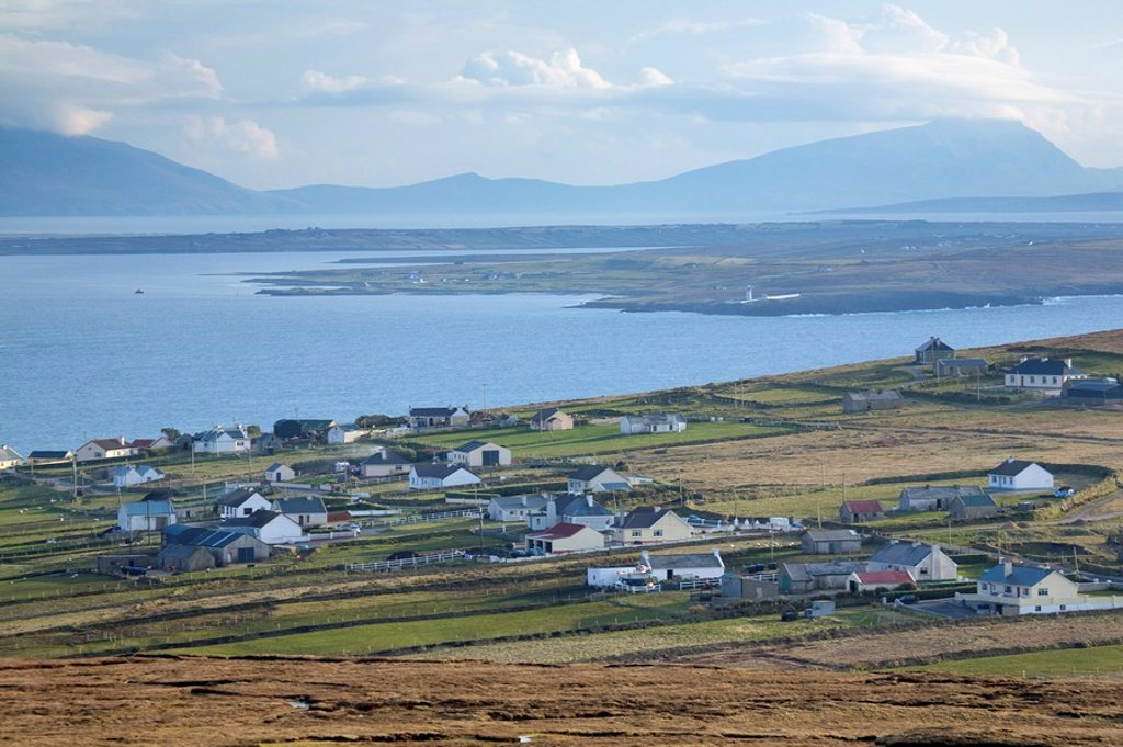 Stock Photo: 1812-11208 Waterfront village, Carrowteige, County Mayo, Ireland