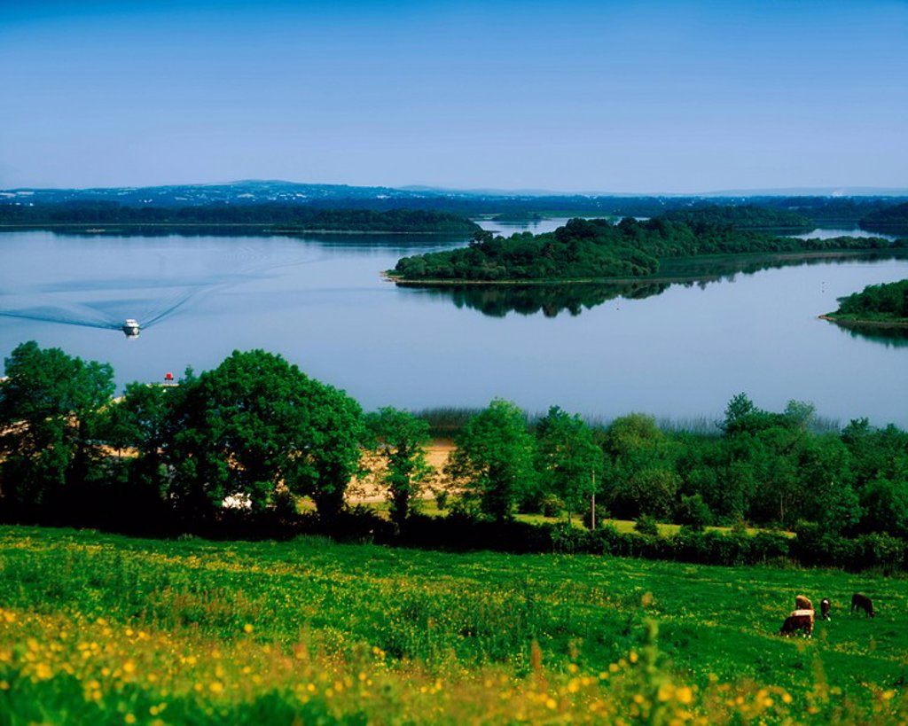 Stock Photo: 1812-11363 River Cruising, Upper Lough Erne, Derrylin, Co Fermanagh, Ireland