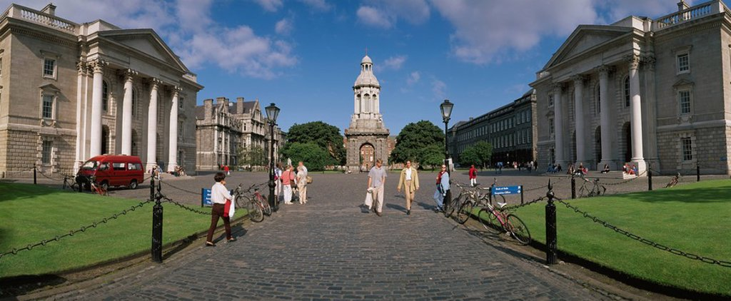 Stock Photo: 1812-11677 Dublin,Co Dublin,Ireland,View Of Parliament Square In Trinity College