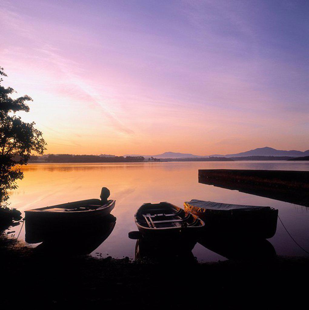 Morning Over Lough Leane, Killarney, Co Kerry, Ireland : Stock Photo