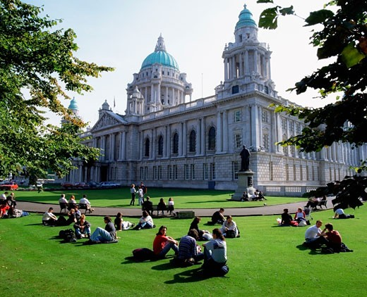 Stock Photo: 1812-1195 City Hall, Belfast, Ireland