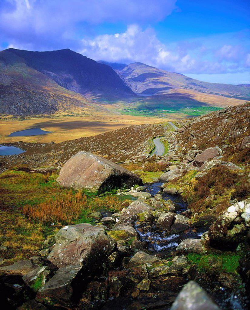 Stock Photo: 1812-12162 Co Kerry, Conor Pass, Dingle Peninsula