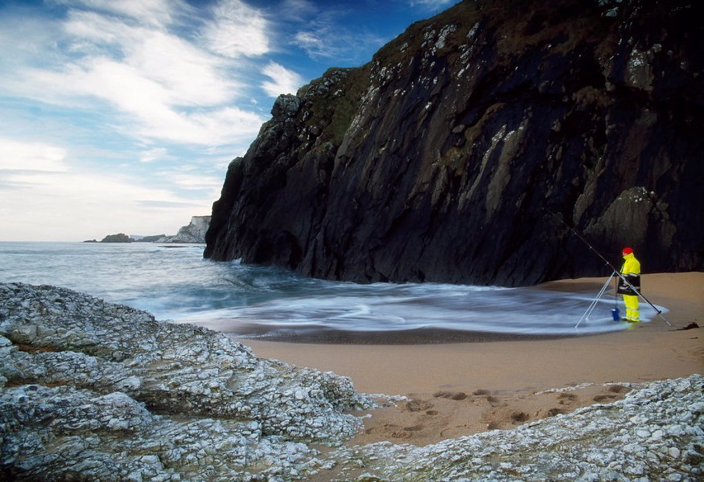 Stock Photo: 1812-12264 Sea Angling, Co Antrim, Ireland