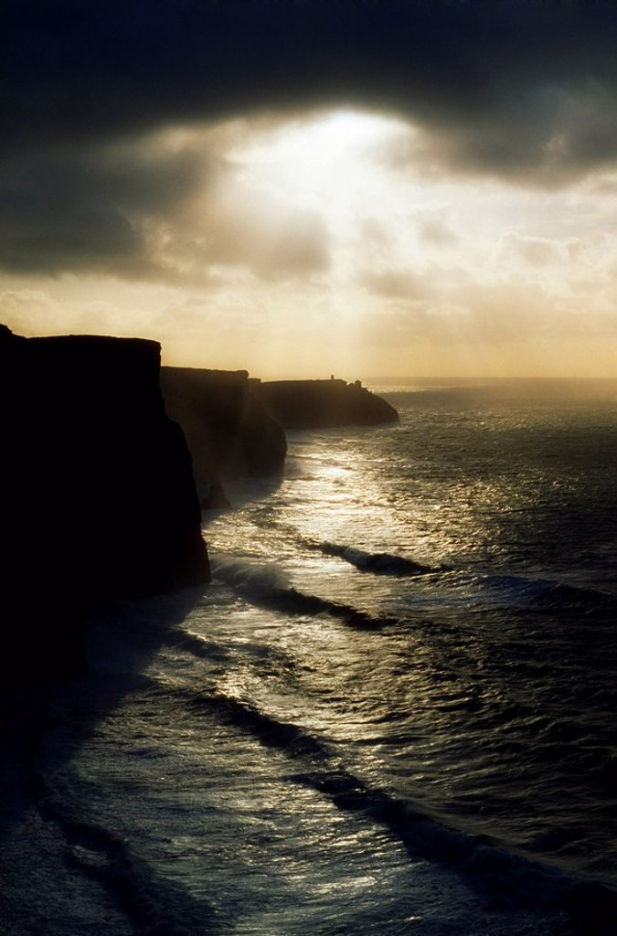 Stock Photo: 1812-12275 Cliffs Of Moher, Co Clare, Ireland