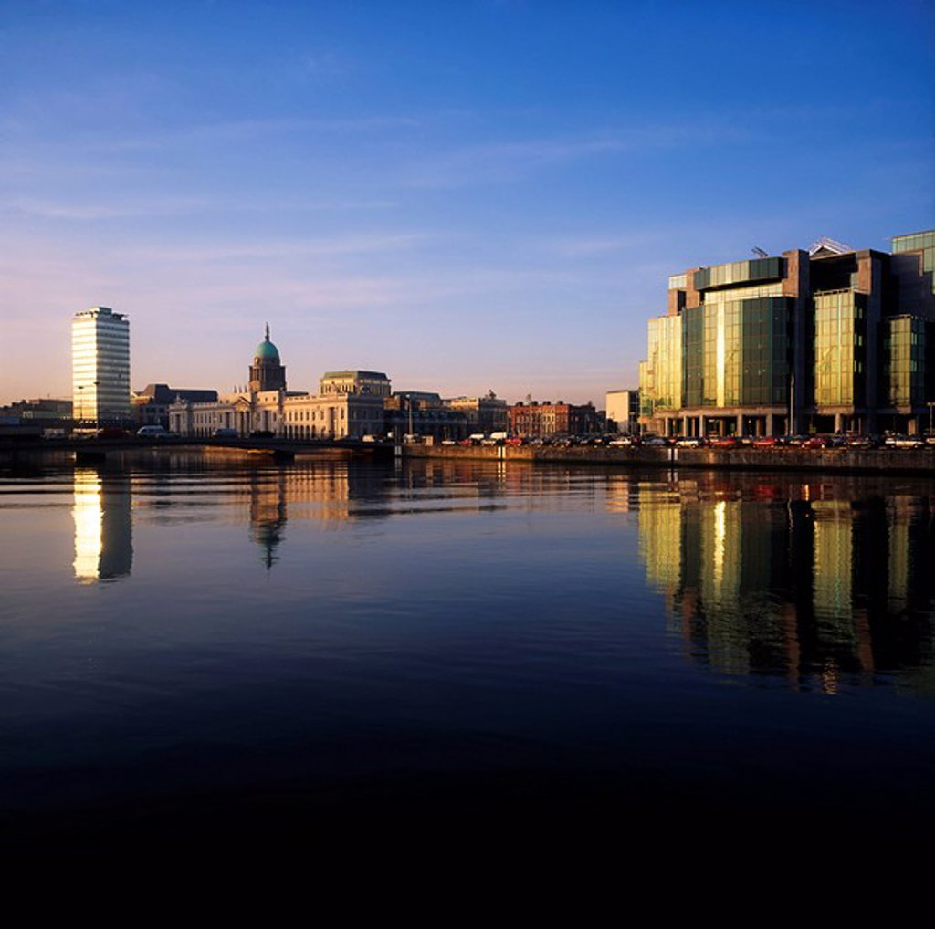 Stock Photo: 1812-12279 International Financial Services Centre Ifsc, Customs Docks, Dublin, Ireland