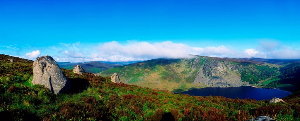 Luggala And Lough Tay, Co Wicklow, Ireland : Stock Photo