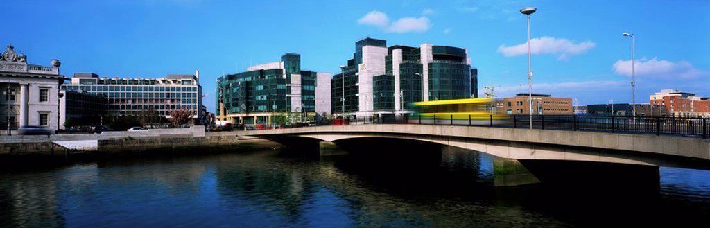 Dublin, Co Dublin, Ireland, International Financial Services Centre Ifsc : Stock Photo