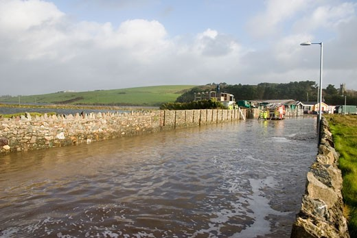 Flooded River Valley, Oct 2004, Bunmahon, Co Waterford, Ireland : Stock Photo
