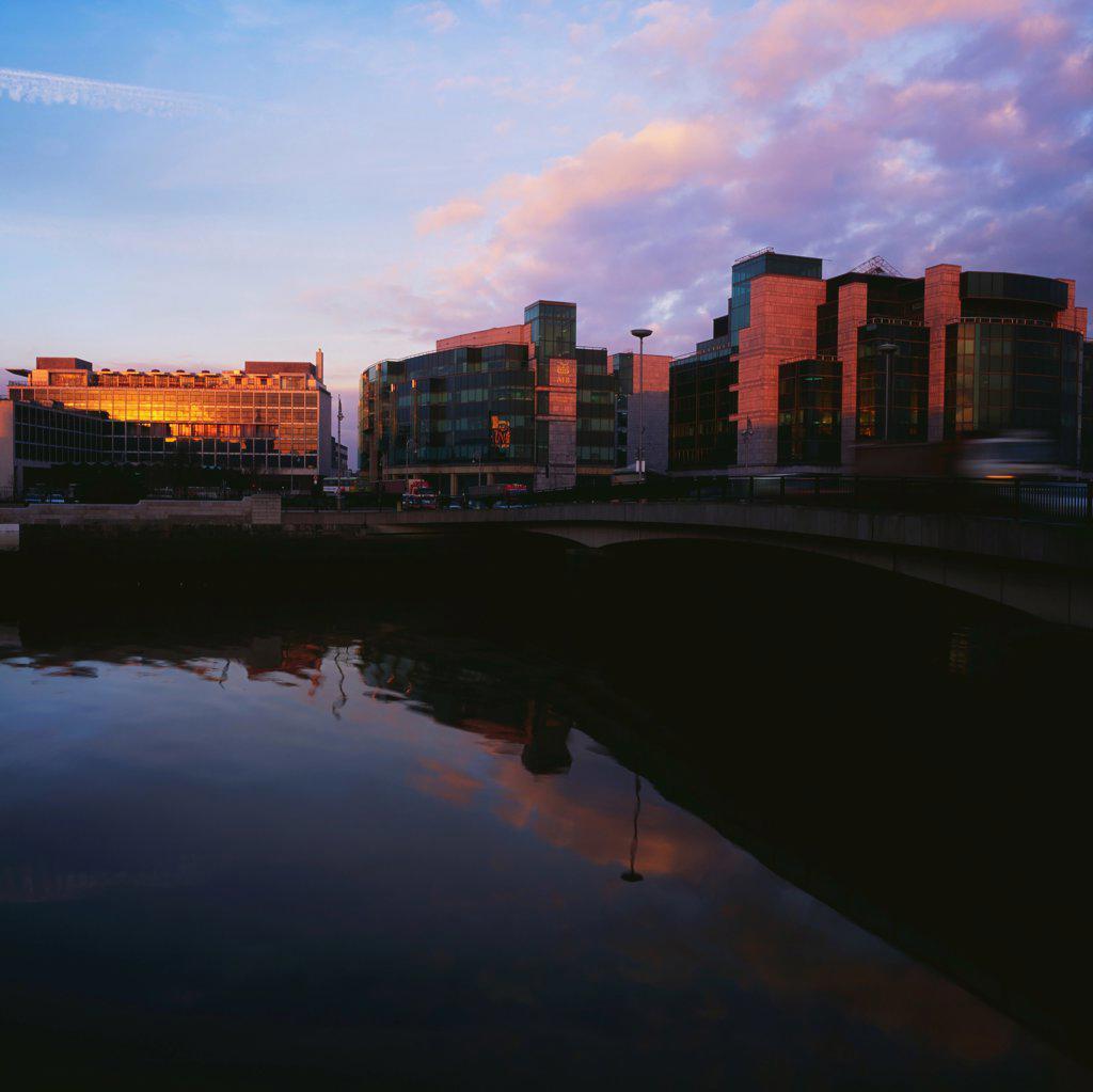 Stock Photo: 1812-15826 Dublin, Financial Services Centre, Custom House Docks