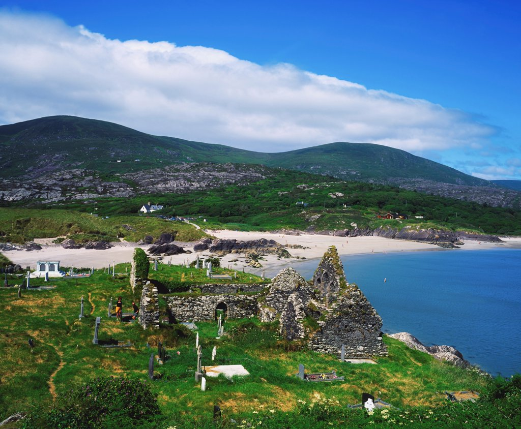 Stock Photo: 1812-15846 Caherdaniel, Co Kerry, Ireland, Ring Of Kerry