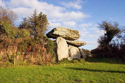 Stock Photo: 1812-1599 Knockeen Dolmen, near Tramore, Co Waterford, Ireland