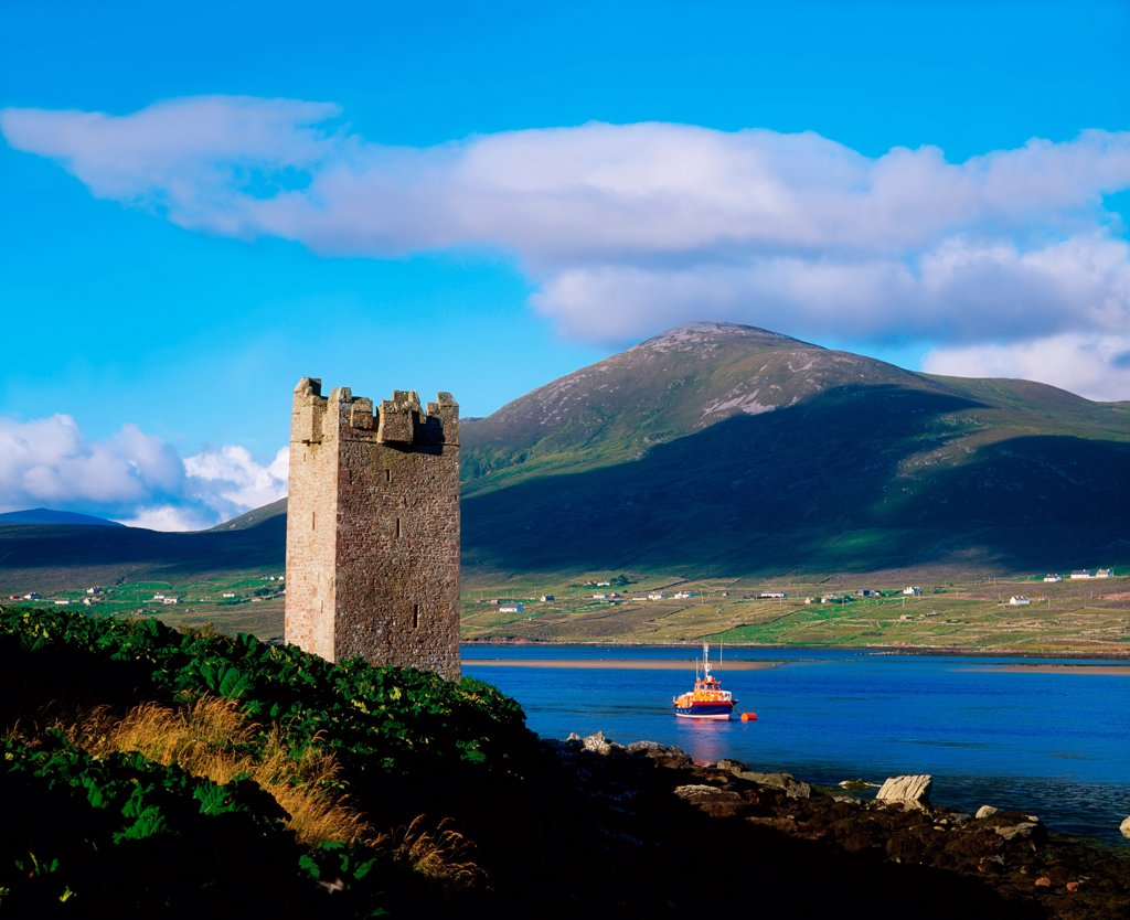Stock Photo: 1812-16244 Carrickkildavnet Castle, Achill Island Co Mayo, Ireland