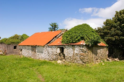 Ruined Farmhouse, Copper Coast, Co Waterford, Ireland : Stock Photo