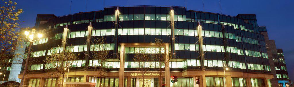 Dublin City, Co Dublin, Ireland, International Financial Services Centre (Ifsc), Aib : Stock Photo