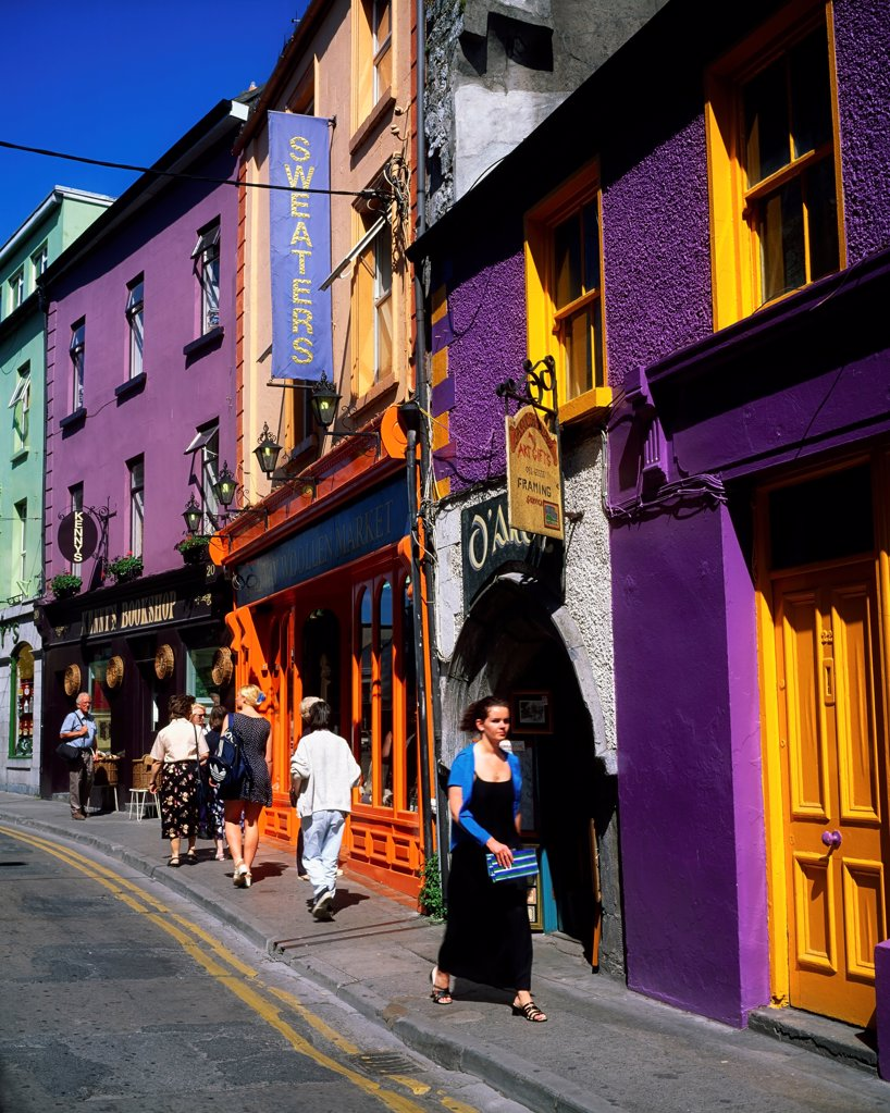 Stock Photo: 1812-16487 Galway City, Co Galway, Ireland, Street Scenes