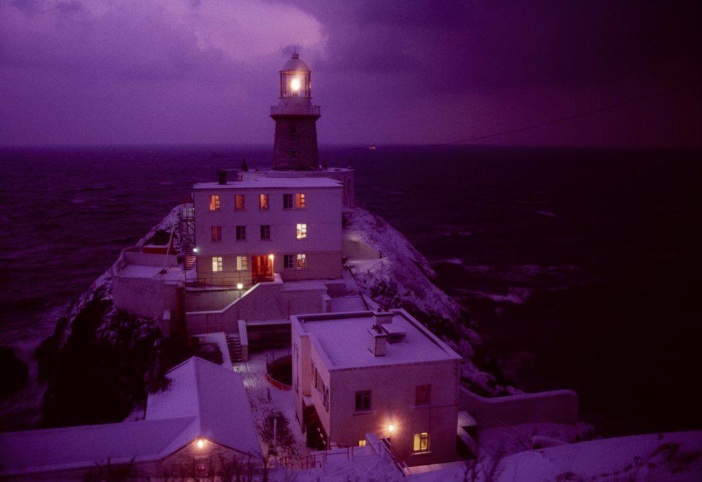 Stock Photo: 1812-16639 Howth, County Dublin, Ireland; Baily Lighthouse