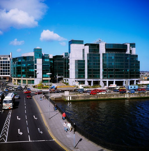 Irish Financial Services Centre, Dublin, Co Dublin, Ireland : Stock Photo